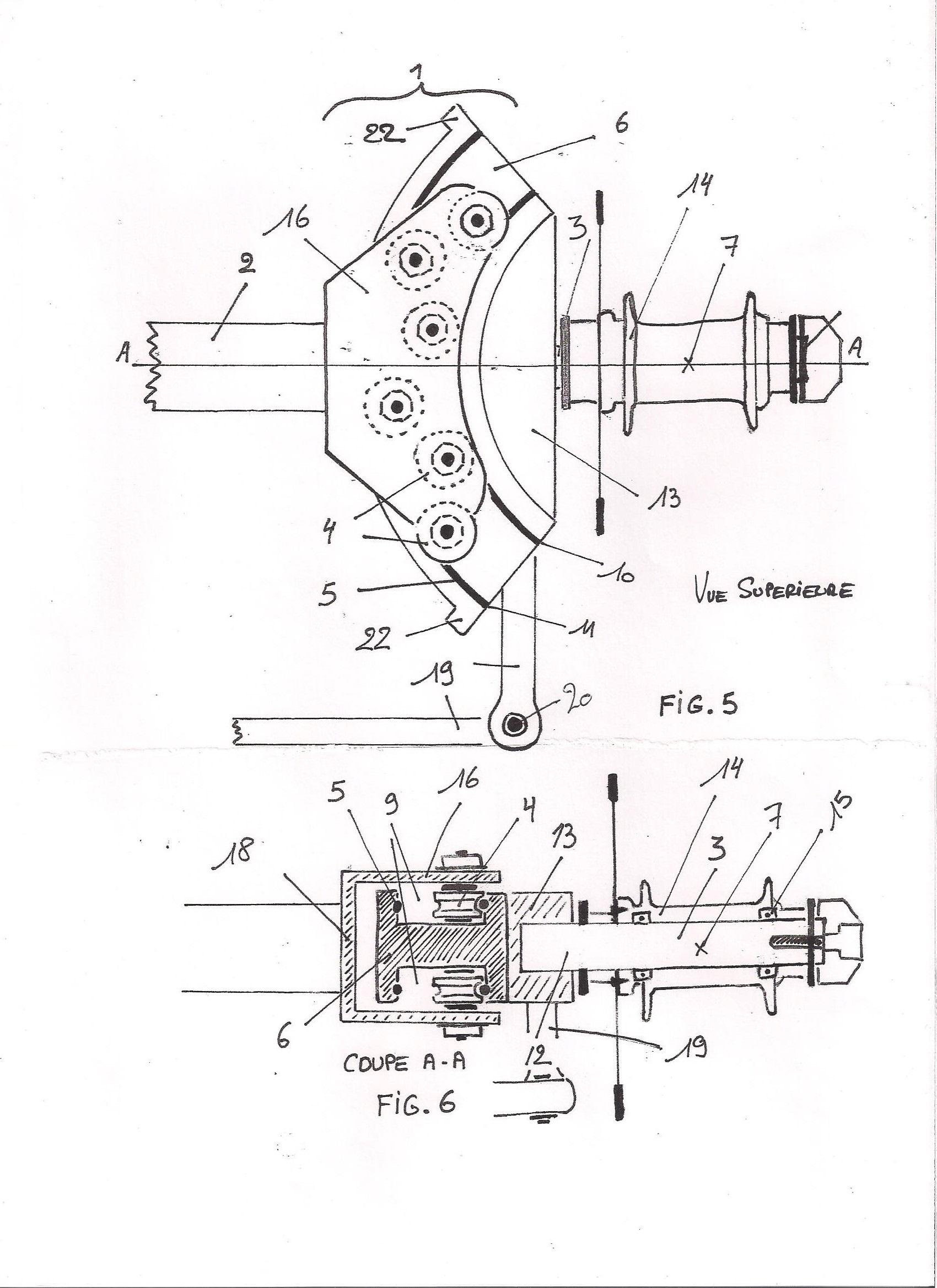 Brevet d'invention : Pivot Virtuel à Guidage linéaire curviligne